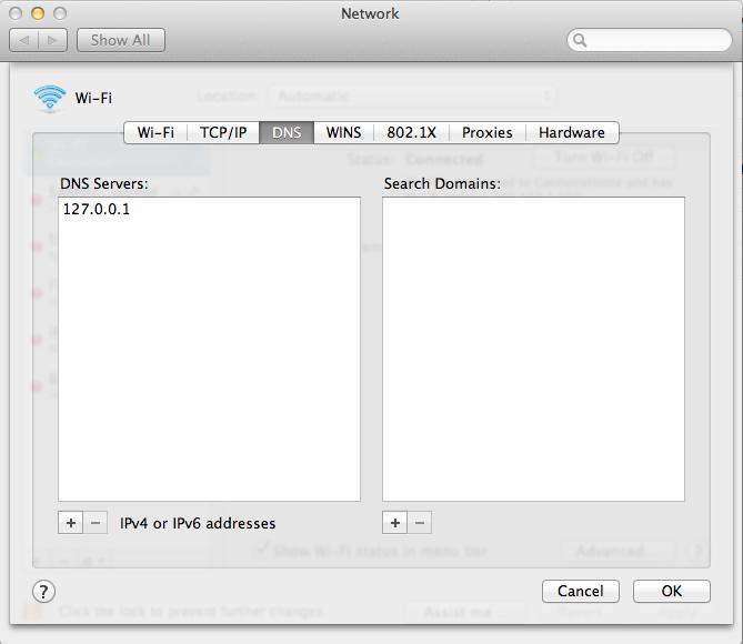 Using Dnsmasq Configure Wildcard DNS Record on Mac